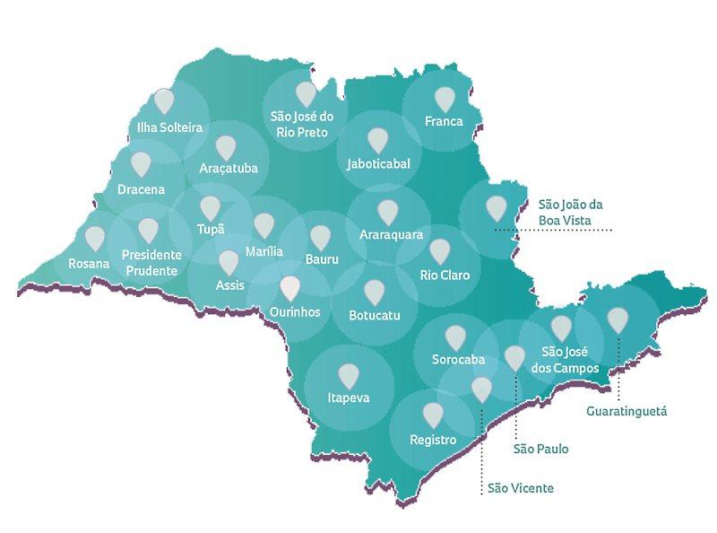 Standorte von UNESP: medizinische Praktika Brasilien